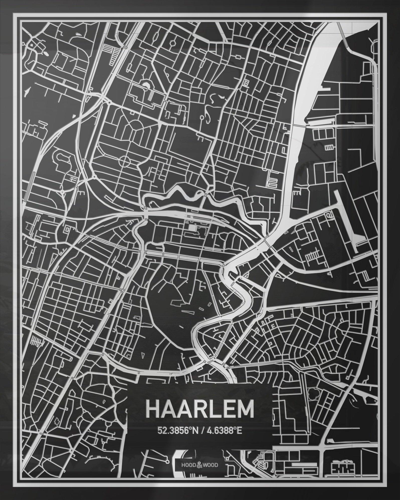 Plattegrond Haarlem Centrum Hood Wood