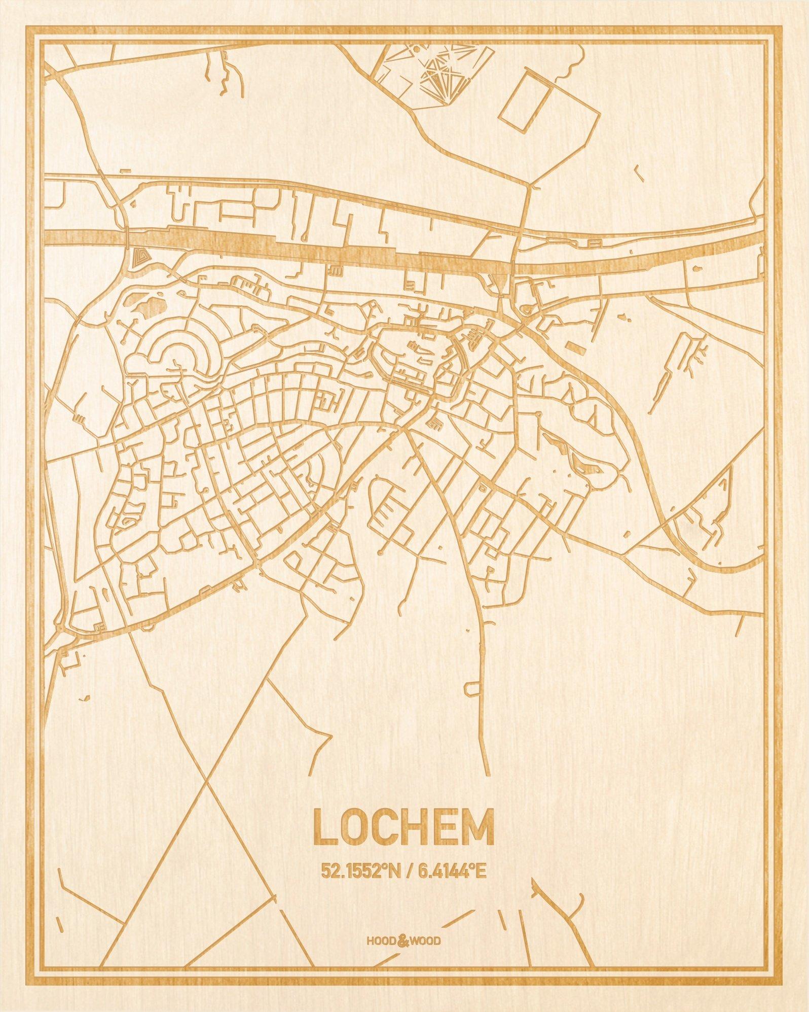 Plattegrond Lochem Centrum Hood Wood