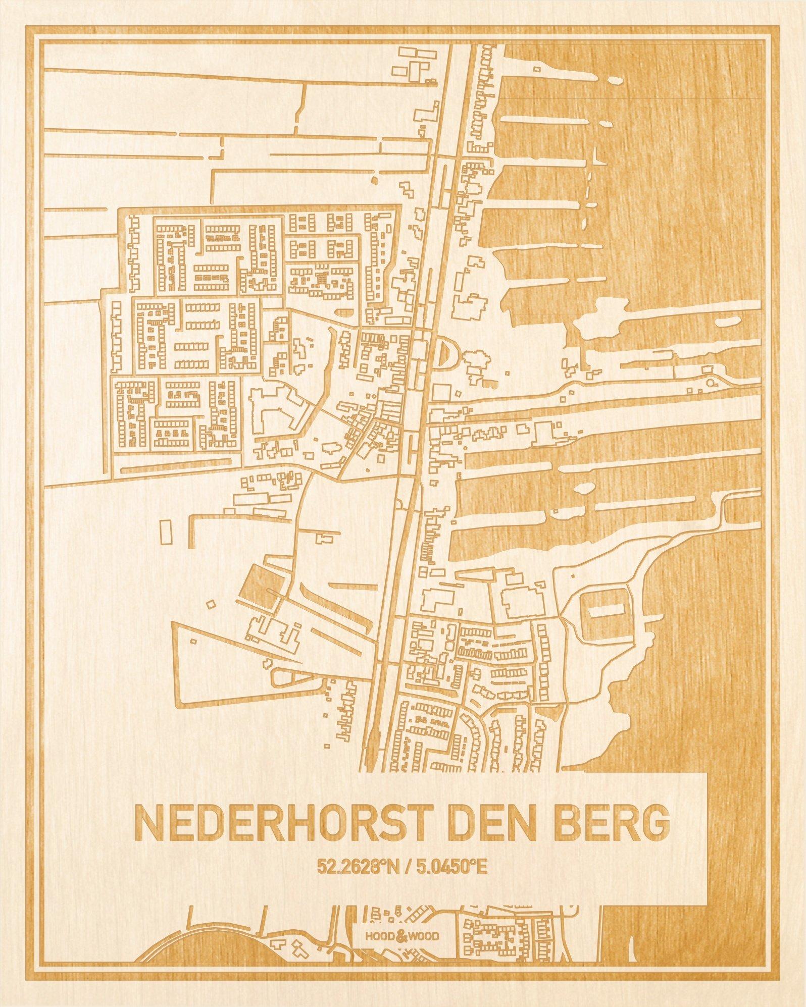 Nederhorst Den Berg Nederland.Plattegrond Nederhorst Den Berg
