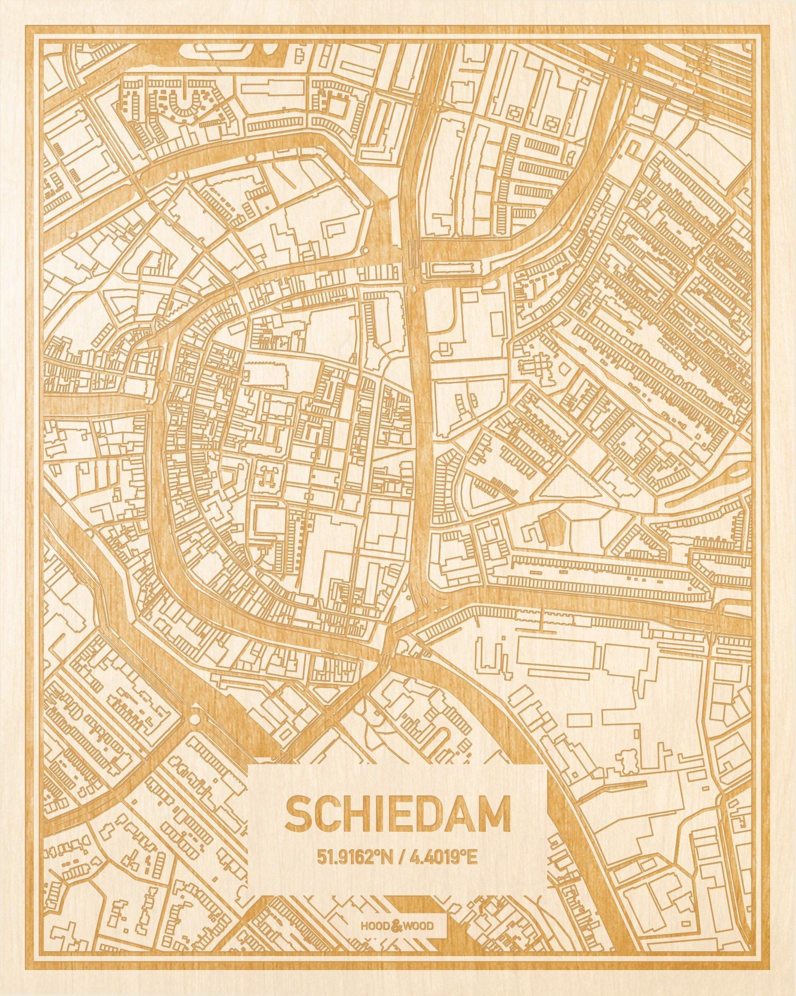 Plattegrond Schiedam Centrum Hood Wood