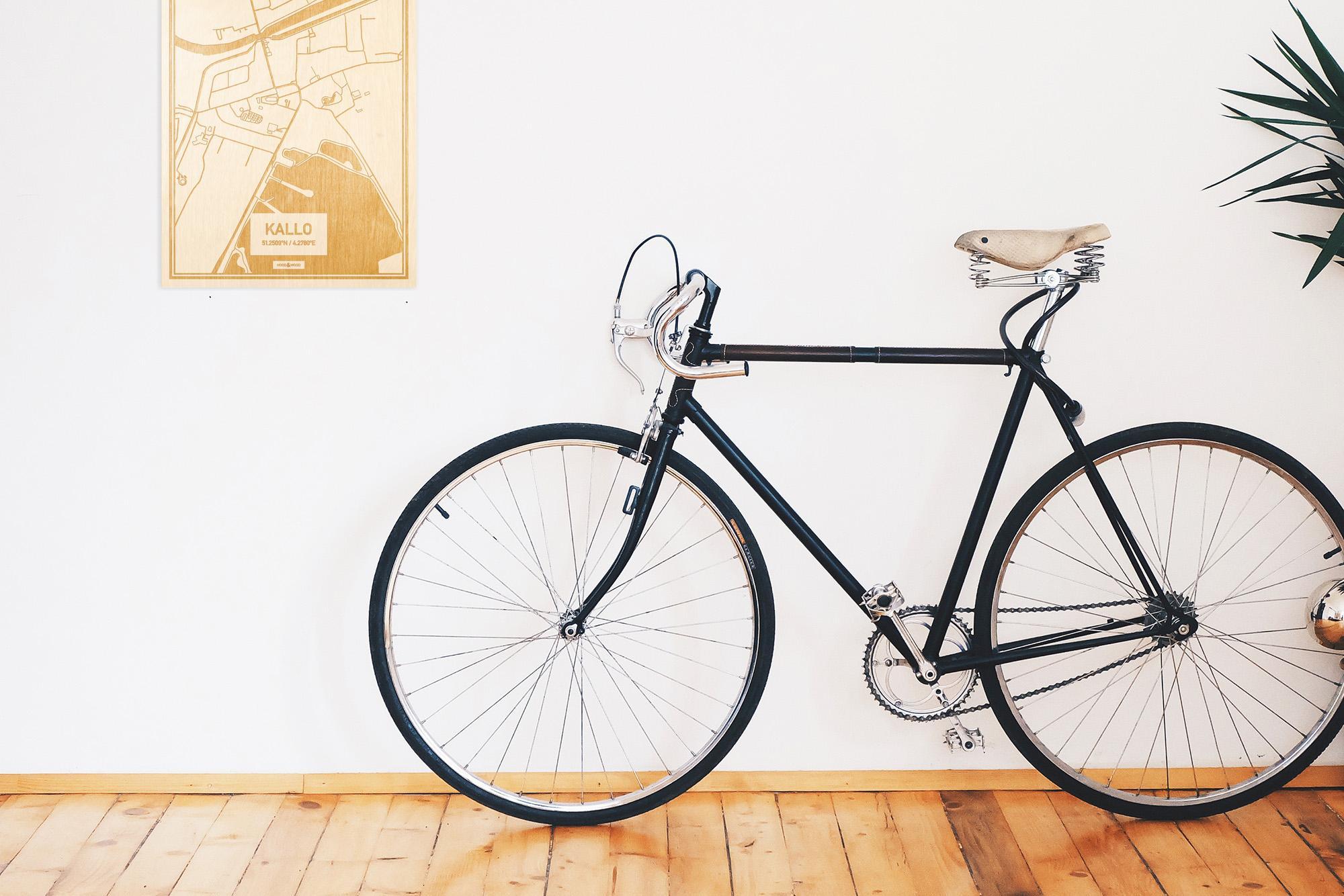 Een snelle fiets in een uniek interieur in Oost-Vlaanderen  met mooie decoratie zoals de plattegrond Kallo.