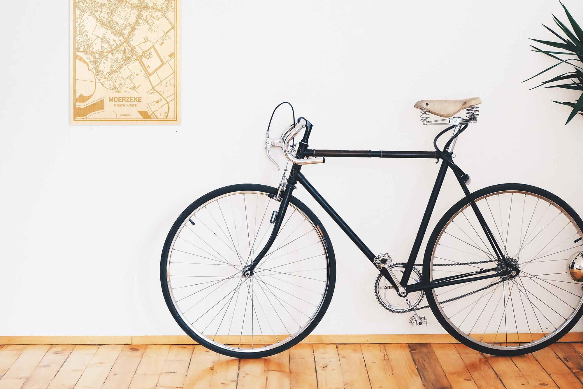Een snelle fiets in een uniek interieur in Oost-Vlaanderen  met mooie decoratie zoals de plattegrond Moerzeke.