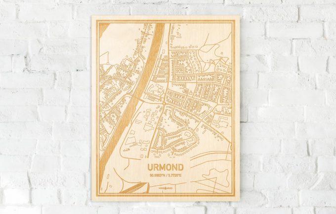 Plattegrond Urmond Centrum Hoodwood